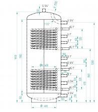 Akumulační nádrž MG2 300l