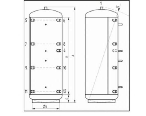 KXT0 - tabulka rozměrů - nákres