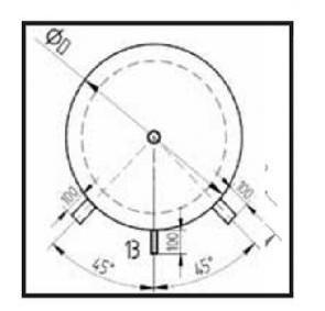 KXT0 - tabulka rozměrů - nákres 2